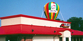 Pizza Hut Inflatable Hot Air Shape