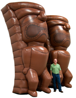 Inflatable Tiki Statues