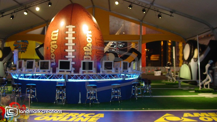 Giant Inflatable Wilson Football at Marketing Event