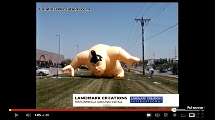Inflatable Installation Video of Giant Sumo Wrestler