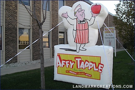 Affy Tapple Inflatable Logo Outside of Retail Location
