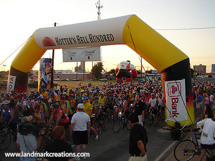 Hotter'N Hell Inflatable Start Arch at Bike Race