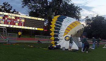 Inflatable Warriors Head Dress Football Tunnel