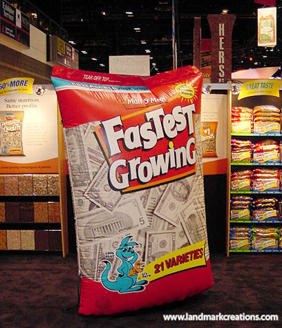Malt-O-Meal Inflatable Cereal Bag at Trade Show