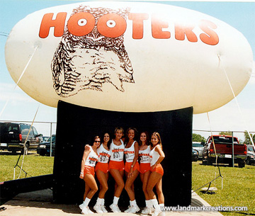 Inflatable Hooters Logo at Pro Cup Racing Series
