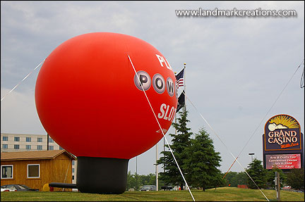 Inflatable Powerball Advertisement at Grand Casino