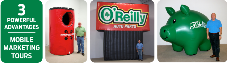 Custom-designed Inflatables Manufactured for Experiential Marketing Tours
