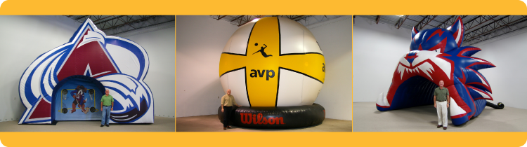 Inflatable Sports Cage, Giant Inflatable Volleyball and Inflatable Football Tunnel for Sporting Events
