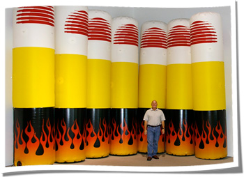 Inflatable Pylons for Racing Event