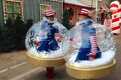 Inflatable Snow Globe Costumes Are A Hit At Rudolph S