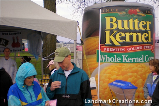 Inflatable Butter Kernel Corn Can at Community Event