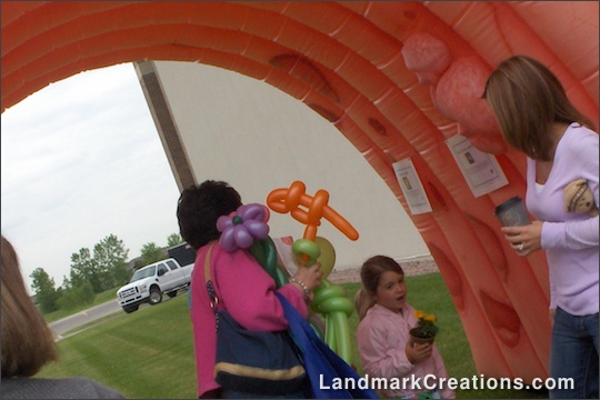 GI Medicine Associates' Inflatable Colon at Community Event