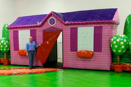 The Wiggles Inflatable House Stage Prop for Dorothy the Dinosaur