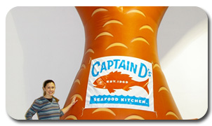 Captain D's Inflatable Fishtail for Franchise Marketing