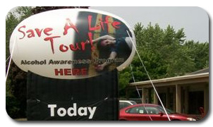 Save a Life Tour Inflatable Billboard
