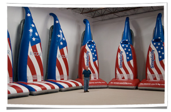 Tacony Corporation's Inflatable Patriotic Vacuums
