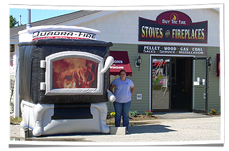 Hearth N Home's Inflatable Fireplace Replica