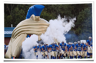 Christian Academy of Knoxville's Inflatable Warrior Football Helmet Tunnel