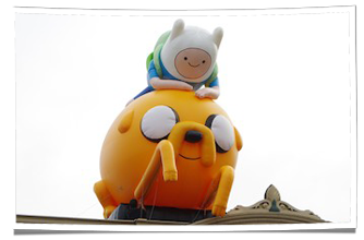Adventure Time Inflatables at Comic Con in San Diego