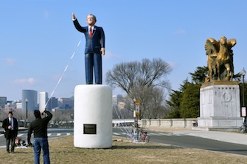 George W. Bush Inflatable Statue