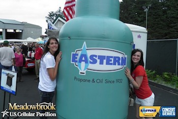 Eastern Propane's Inflatable Propane Tank at Community Event