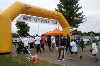 The Cure Starts Now Inflatable Arch at Fundraising Race Event