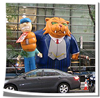 Fat Cat at Teamsters Protest