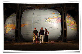 Art Installation of David Byrne's Inflatable Globe