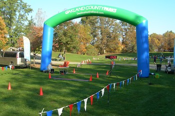 Oakland County Park's Inflatable Arch at Community Event