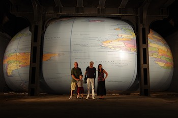 David Byrne's Inflatable Globe Art Installation