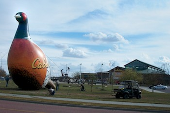 Giant Inflatable Pheasant at Cabela's Retail Location