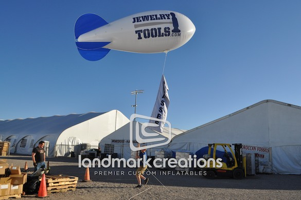 JewelryTools Inflatable Advertising Blimp at Tucson Gem and Mineral Show