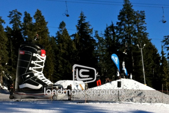 VANS Canada Inflatable Snowboard Boot at Hi-Standard Snowboard Event