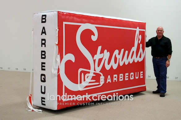 Stroud's Barbeque Inflatable Food Truck Logo