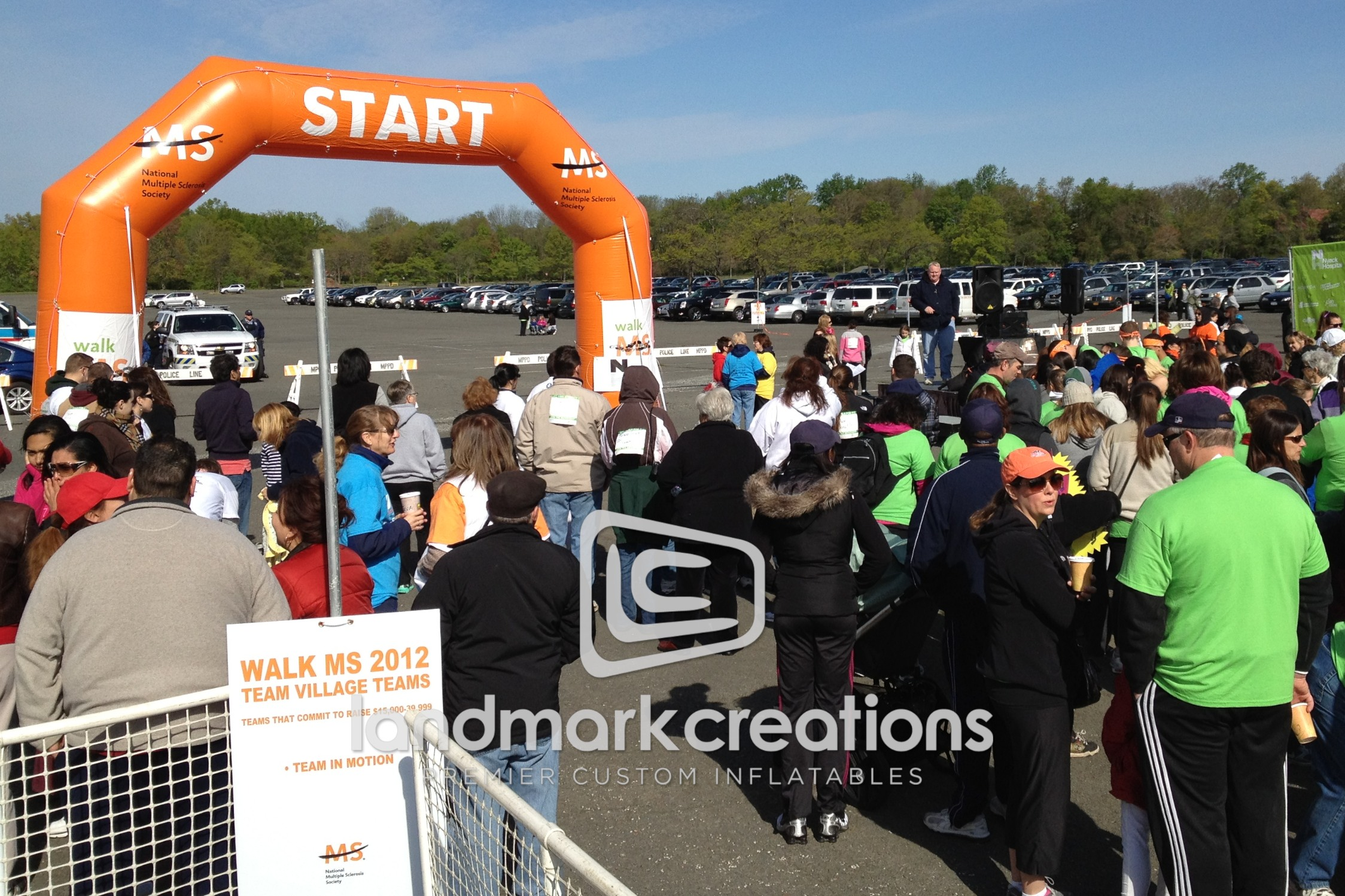 National MS Society of New York's Inflatable Arch at Walk MS Fundraising Event