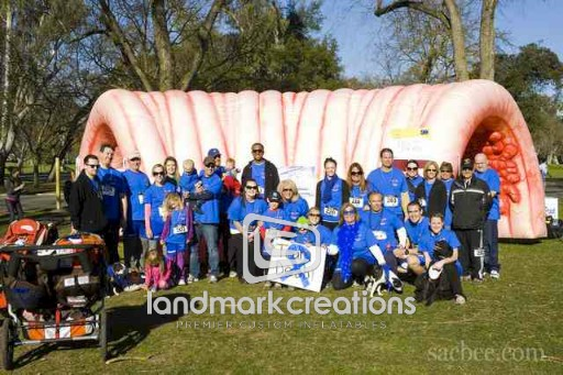 Inflatable Colon at Colon Cancer Alliance Event