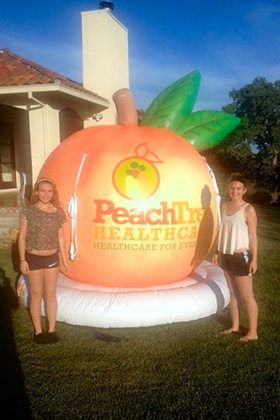 Peach Tree Healthcare Inflatable Logo
