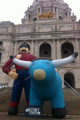 Paul Bunyan and Babe the Blue Ox at MN Historical Society