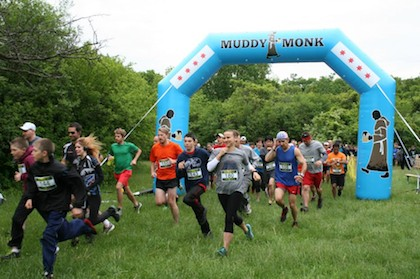 Muddy Monk Inflatable Arch at Trail Race