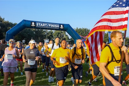 Wounded Warrior Archway at 8K Fundraiser