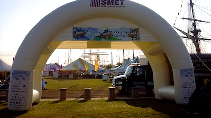 SMET Construction Inflatable Dual Archway at Festival