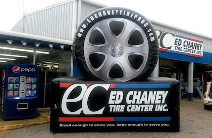 Inflatable Tire Billboard