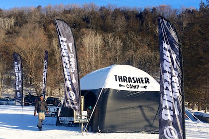 Inflatable Thrasher Snowboard AirTent