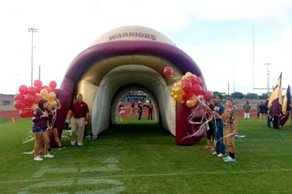 Tuloso Midway Football Helmet Tunnel