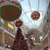 Inflatable Ornaments Suspended in Shopping Mall
