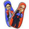 McCain and Obama Inflatable Punching Bags