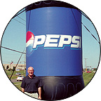 Inflatable Pepsi Bottle