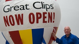 Great Clips Inflatable Hot Air Balloon Shape