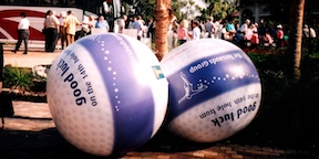 Inflatable Golf Balls for Fundraising Event