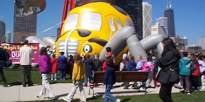 Inflatable School Bus at Educational Event